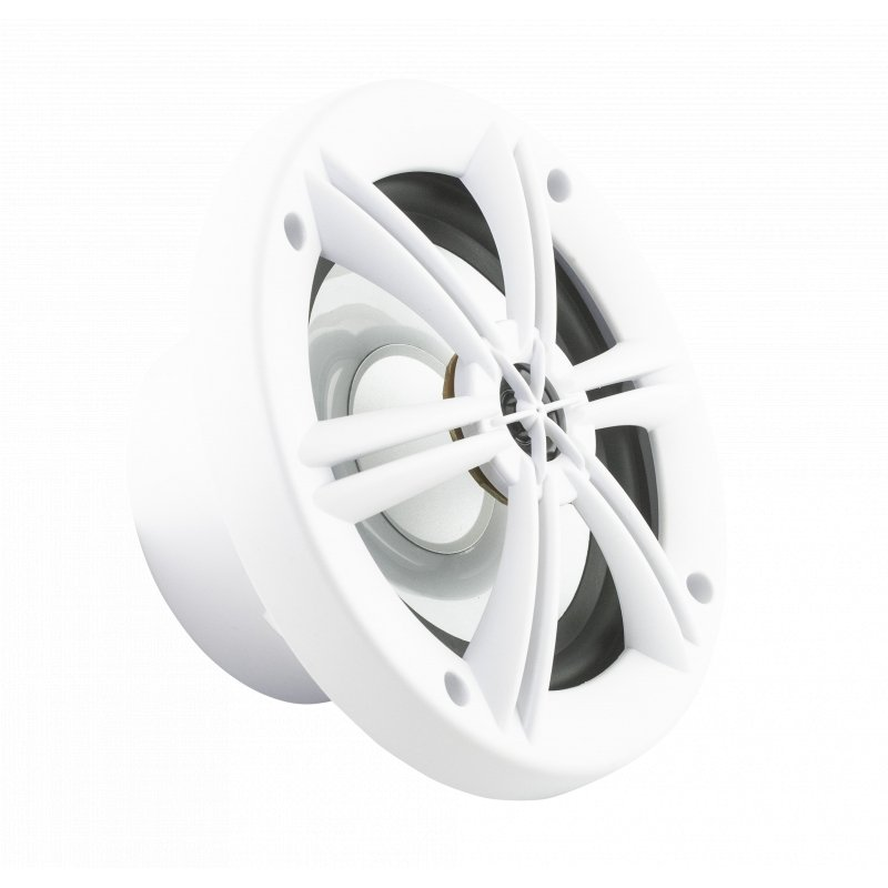 "6.5"" WHITE COAXIAL POWERSPORTS/OFF-ROAD SPEAKERS WITH BUILT-IN MULTI-COLOR RGB LIGHTING"
