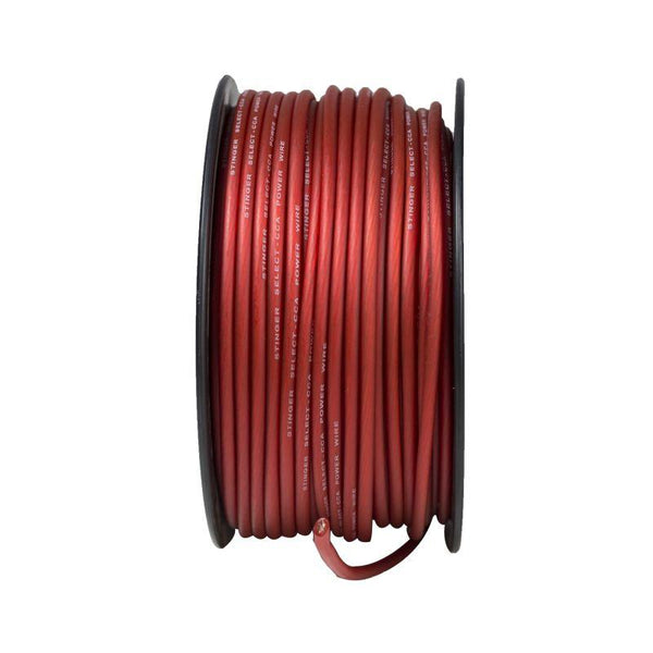 8GA MATTE RED POWER WIRE