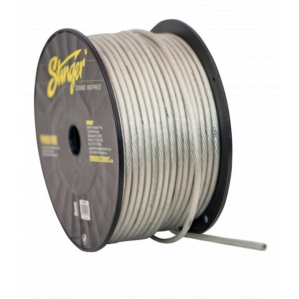 8GA PRO POWER WIRE: CLEAR 250' Roll