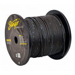 8GA PRO POWER WIRE: MATTE BLACK 500' Roll