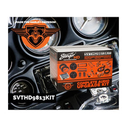 Complete Plug and Play 350W audio system for 1998-2013 Harley Davidson Touring Motorcycles