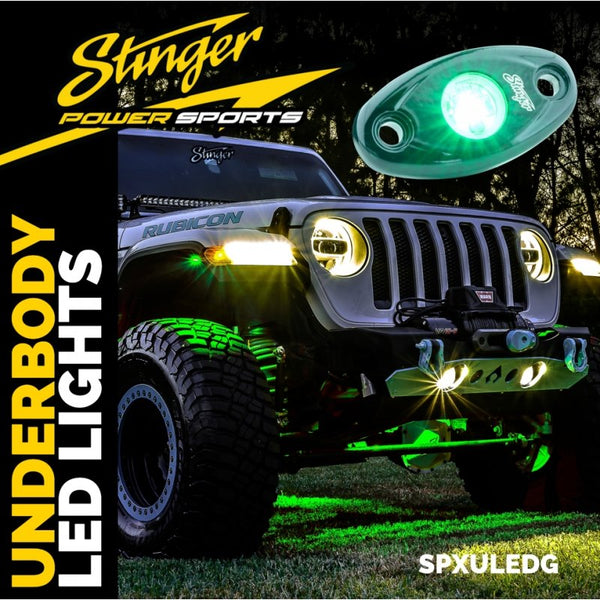 Green IPX68 LED UNDERBODY/WHEEL WELL/ROCK LIGHTS (PAIR)