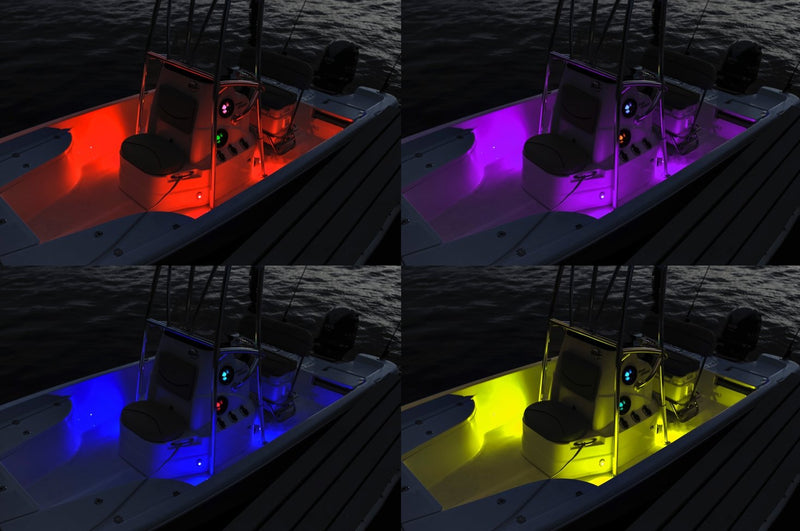 IP65 RGB LED 4-WAY APP CONTROLLED CABIN/GUNNEL/DECK ACCENT LIGHTING KIT