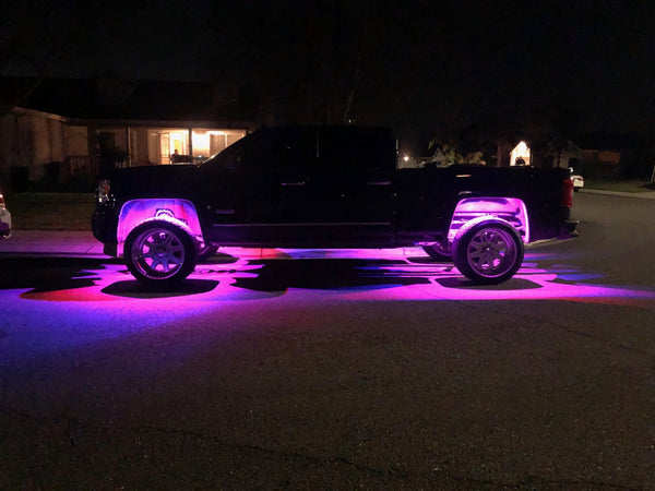 IP65 RGB LED 8-WAY APP CONTROLLED UNDERBODY/WHEEL WELL LIGHT KIT