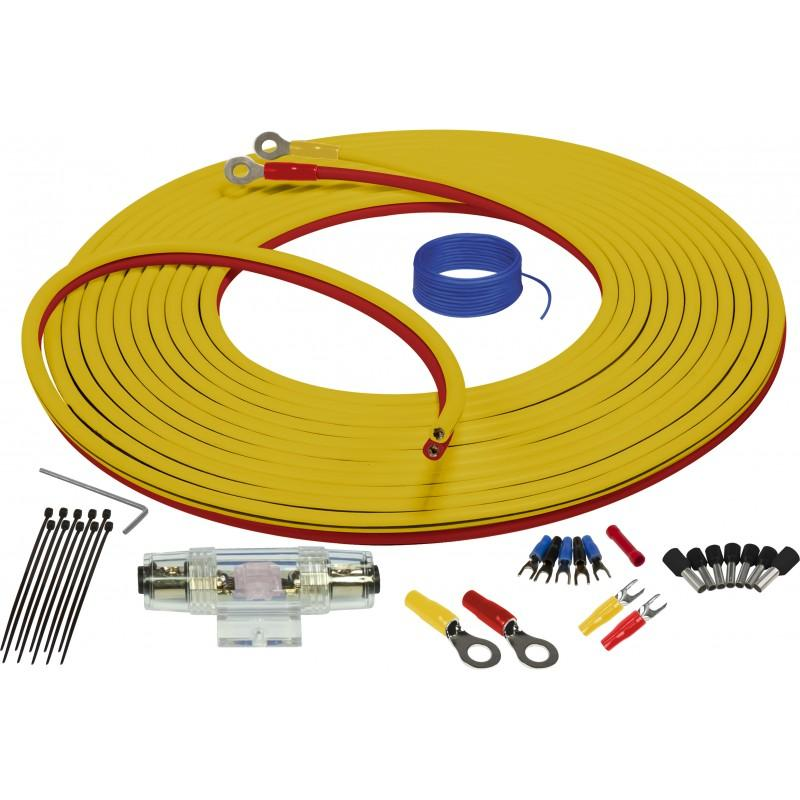 MARINE COMPLIANT WIRING KIT WITH DUAL SIAMESE POWER/GROUND WIRE 4GA 7 METER