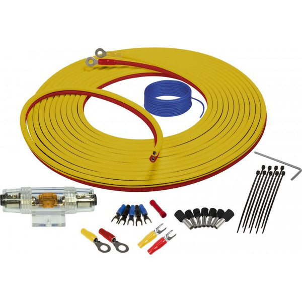 MARINE COMPLIANT WIRING KIT WITH DUAL SIAMESE POWER/GROUND WIRE 8GA 7 METER