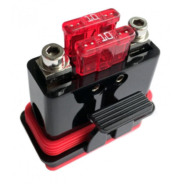 MINI-ANL /DUAL ATC FUSE HOLDER FOR 4GA POWER WIRE