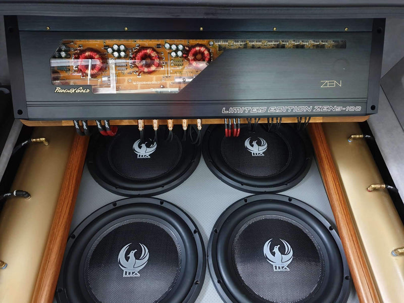 "MX 10"" Dual 4-Ohm 300W Slim Subwoofer"