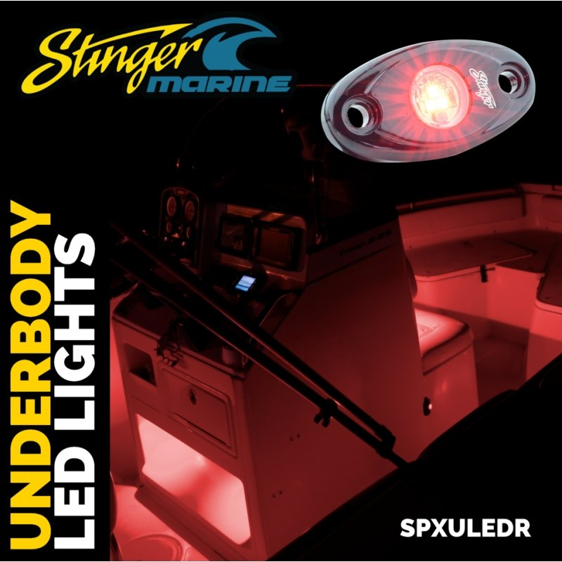 Red IPX68 LED GUNNEL/DECK/CABIN ACCENT LIGHTS (PAIR)