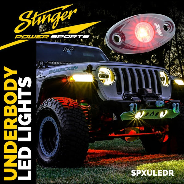 Red IPX68 LED UNDERBODY/WHEEL WELL/ROCK LIGHTS (PAIR)