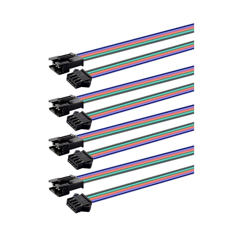 RGB SOLDER CONNECTORS- 8 PACK (4M/4F)