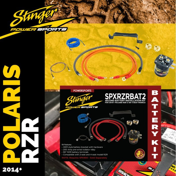 SECOND BATTERY INSTALLATION KIT FOR 2014+ POLARIS RZR