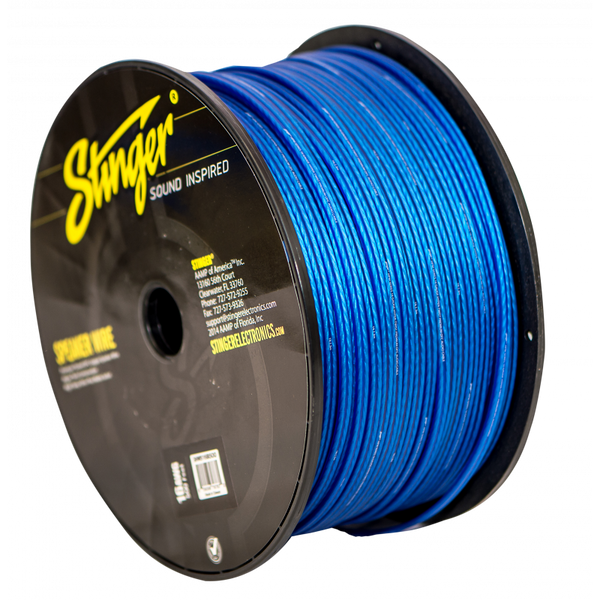 16GA SPEAKER WIRE: BLUE 500' ROLL