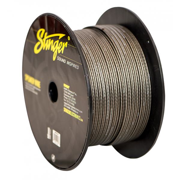 16GA SPEAKER WIRE: GRAY 250' ROLL