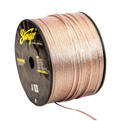 16GA SPEAKER WIRE: CLEAR 500' ROLL