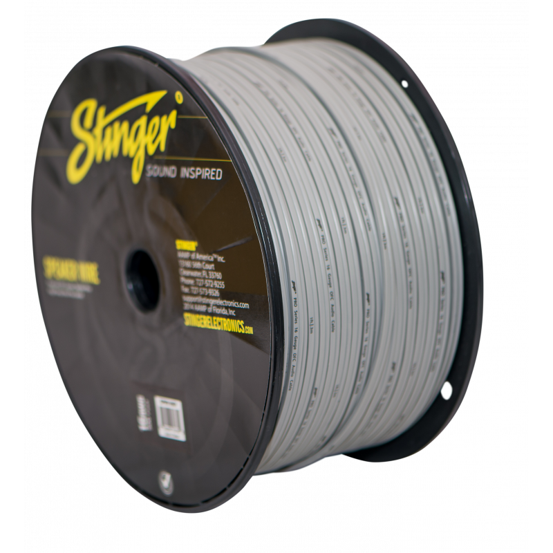 16GA SPEAKER WIRE: GRAY 500' ROLL
