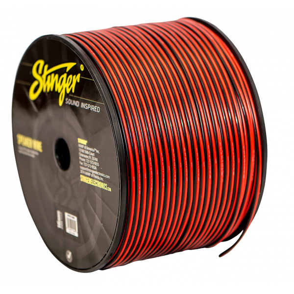 16GA SPEAKER WIRE: RED BLACK 1000' ROLL