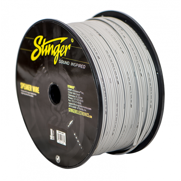 16GA SPEAKER WIRE: WHITE 500' ROLL