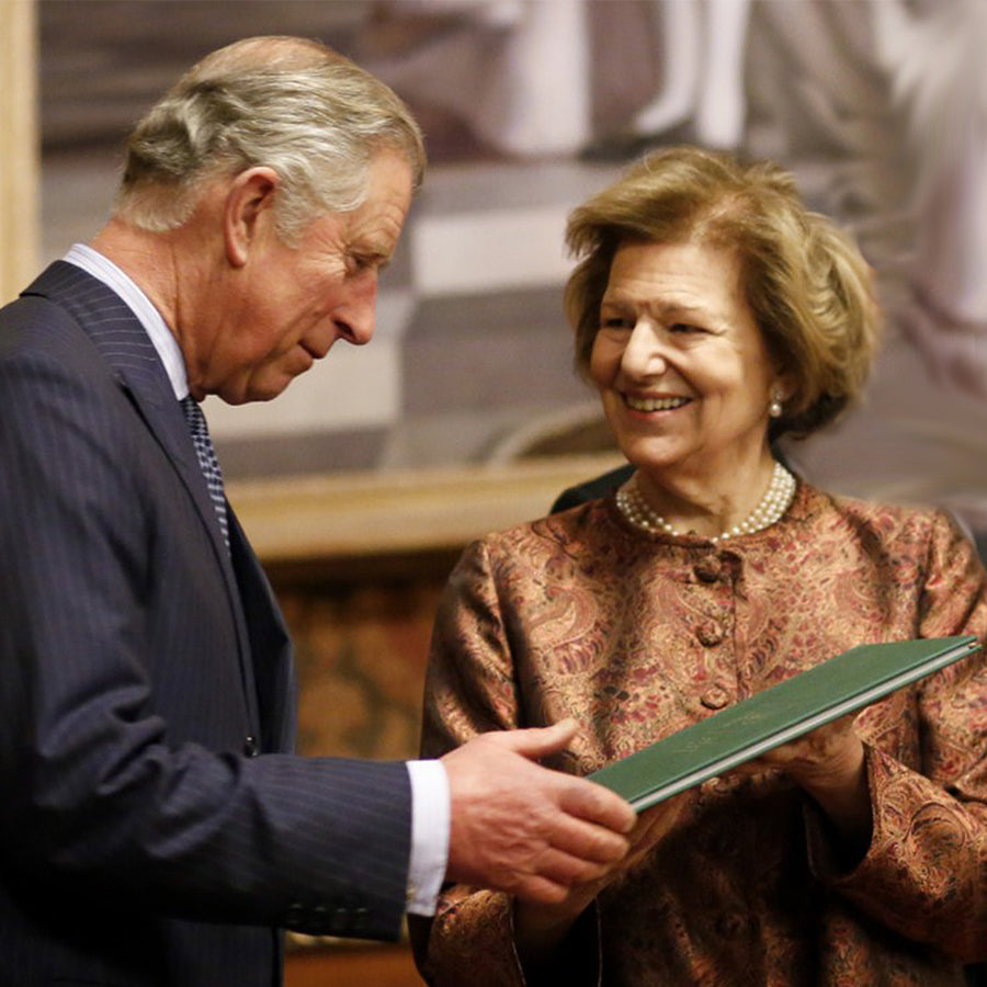 Baroness Nicholson of Winterbourne with Prince Charles