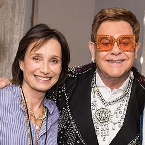 Kristin Scott Thomas at the 2020 Elton John concert