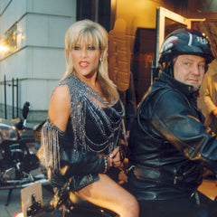 Harley Davidson 100 Anniversary and Sam Fox in Coleman Douglas Pearls and Sam Fox