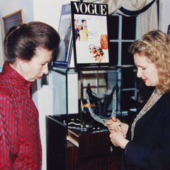 Princess Anne and Chrissie Douglas with Pearls