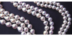 Shape Round and Baroque cultured pearls
