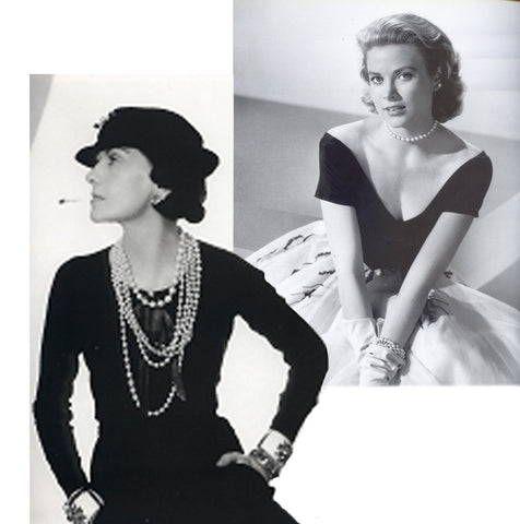 COCO CHANEL AND GRACE KELLY IN PEARLS