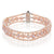 3 Strand Cultured Freshwater Pink Pearl Mixed Bracelet