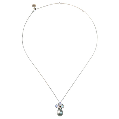 Tahitian Pearl, Diamond and Moonstone Pendant