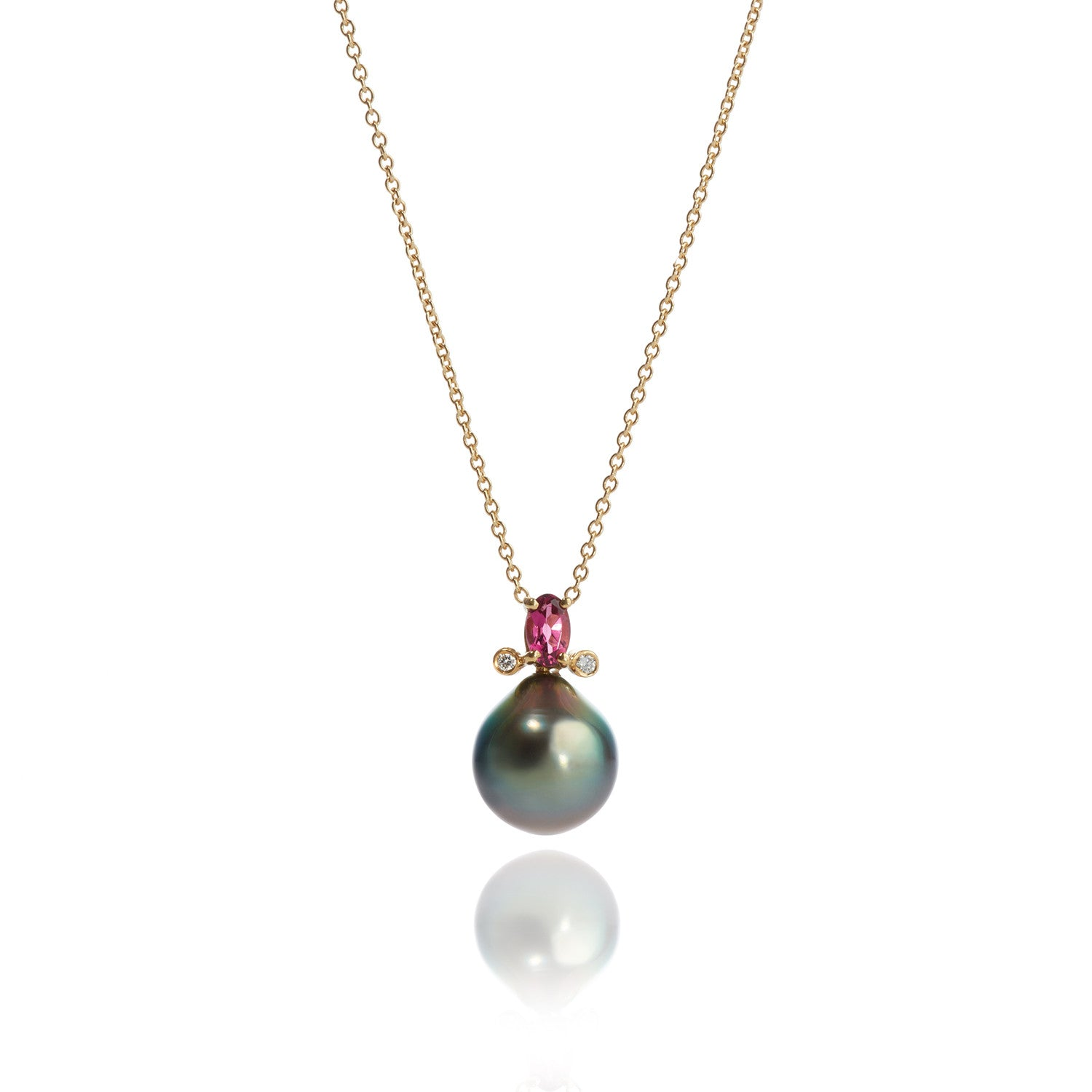 necklace os pearl pendant pinkpearl cutie the products pink line