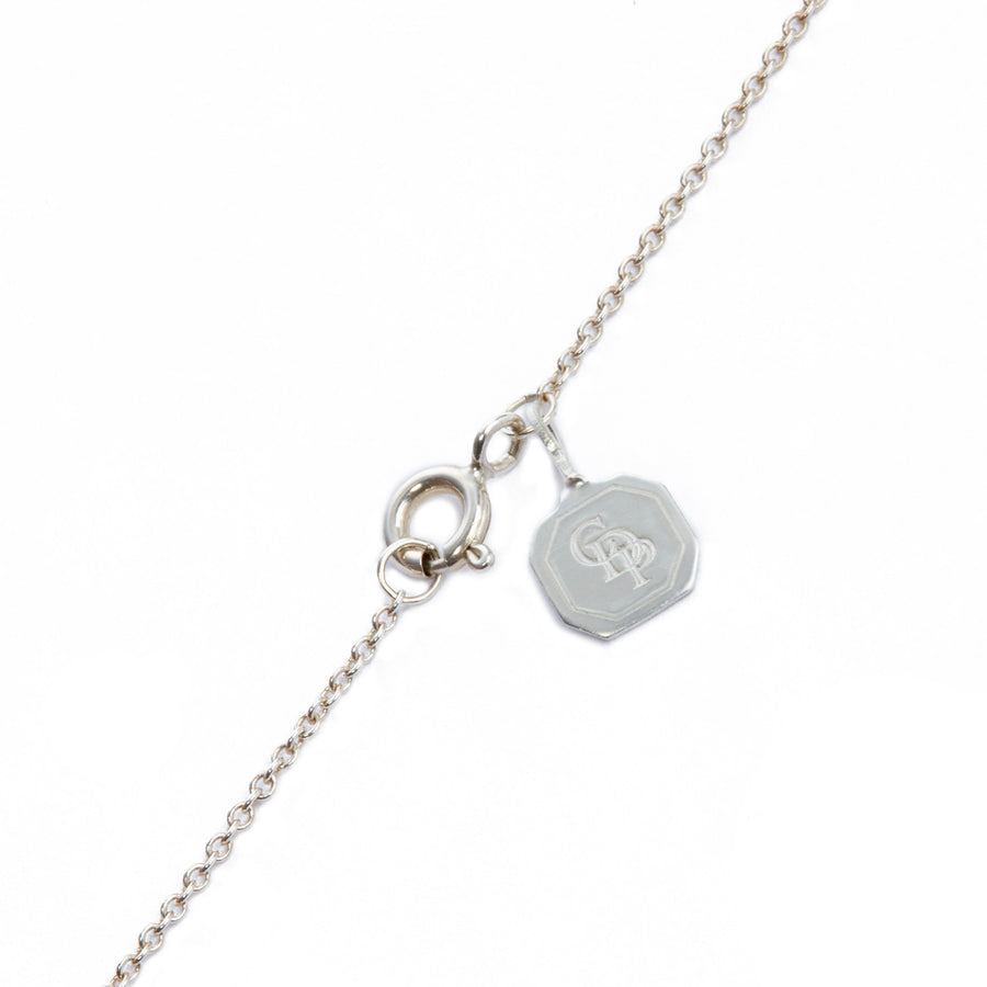 Joyful Single Biwa Grey Pearl Short Pendant