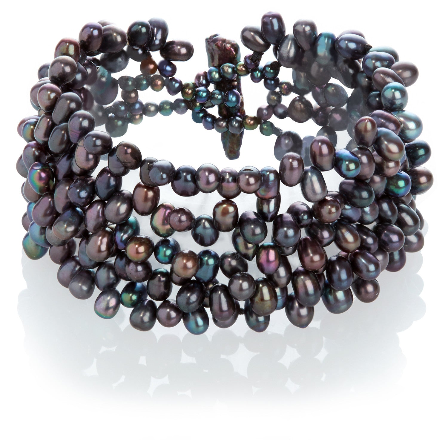 peacock pearl strand coleman freshwater bracelet cultured products black