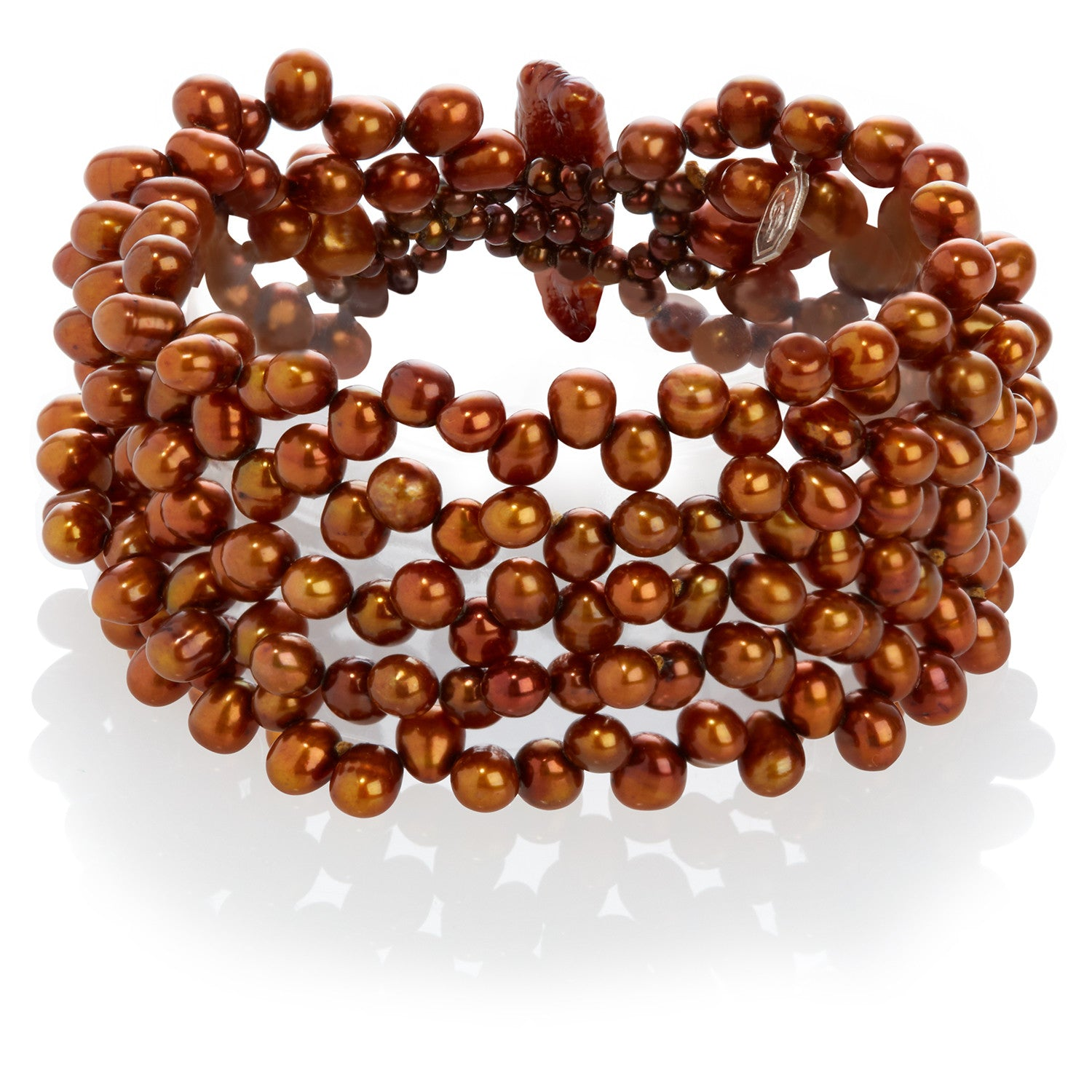5 Strand Cultured Freshwater Copper Pearl Bracelet