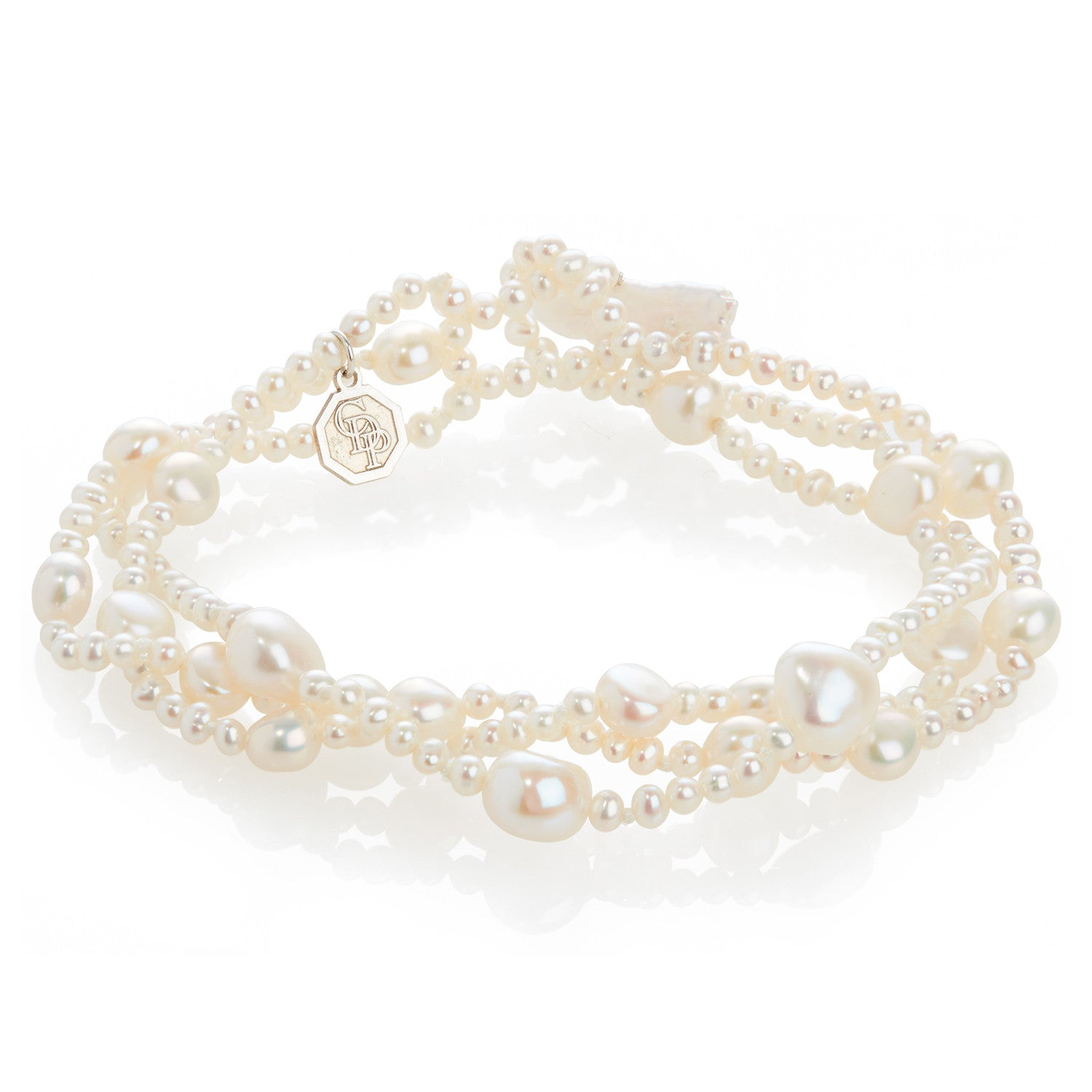 Limited Edition Triple Strand Freshwater Pearl Bracelet