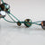 Grey - Black Freshwater Pearl & Green Silk Necklace