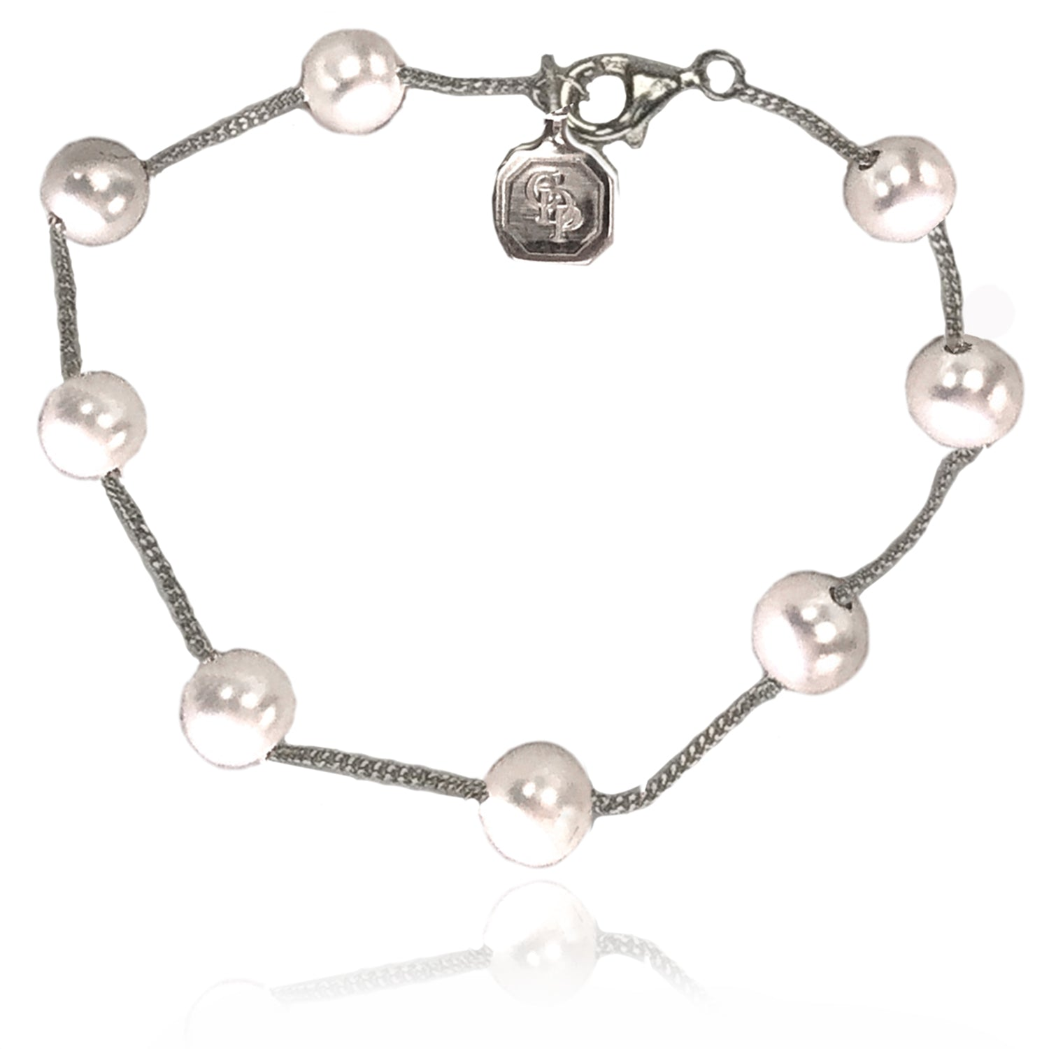 Freshwater Pearl Round Spacer and Chain Bracelet
