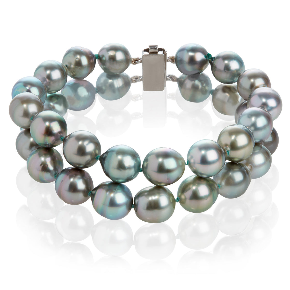Tahitian Cultured Pearl Double Strand Bracelet