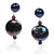 Black Freshwater Pearl 'M&M' Drop Earring