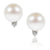 White South Sea Pearl & Diamond Accent 'Tsarina' Earrings