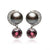 Black Tahitian Pearl 'Moon' Diamond & Tourmaline Earrings