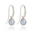 Joyful Shepherd Crook Dove Grey Pearl Drop Earrings