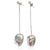 White Baroque Freshwater Pearl 'Build Your Own' Long Drop Earring