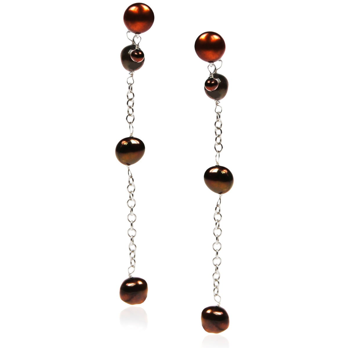Copper Seed Freshwater Pearl 'Build Your Own' Drop Earrings