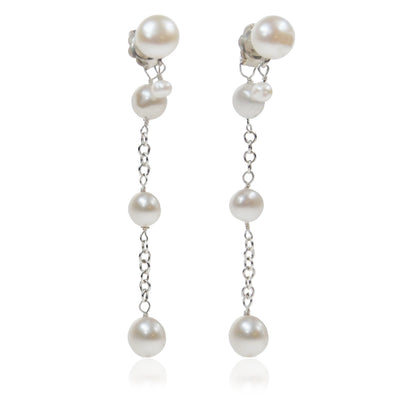 White Seed Freshwater Pearl 'Build Your Own' Drop Earrings