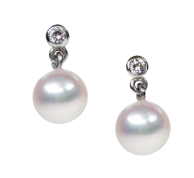South Sea Pearl and Diamond Earrings - White Gold