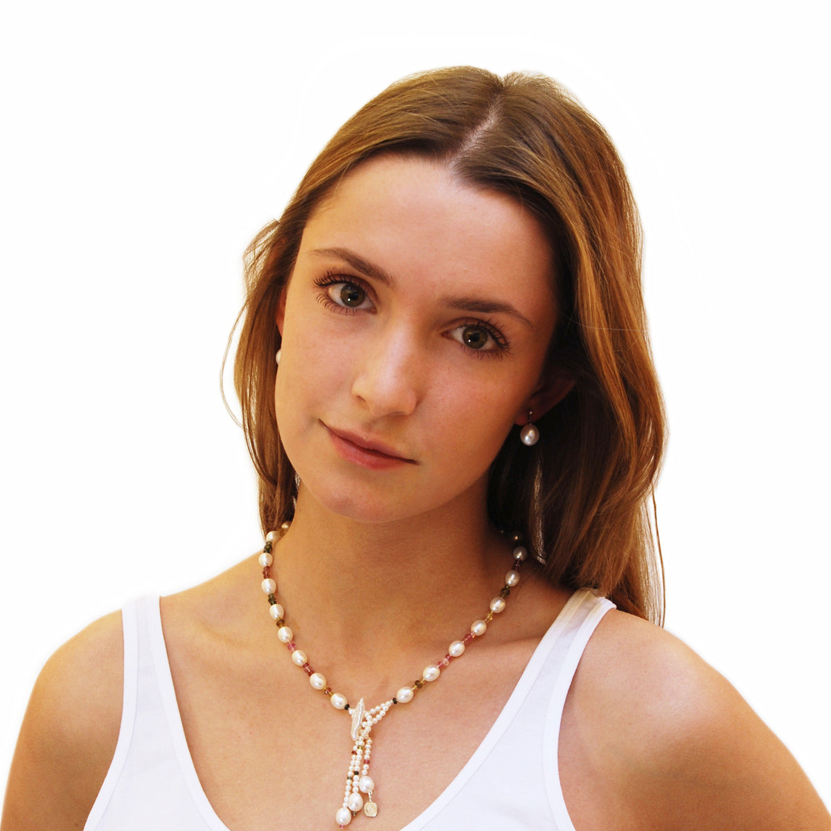 White Freshwater Pearl Large Drop Earrings