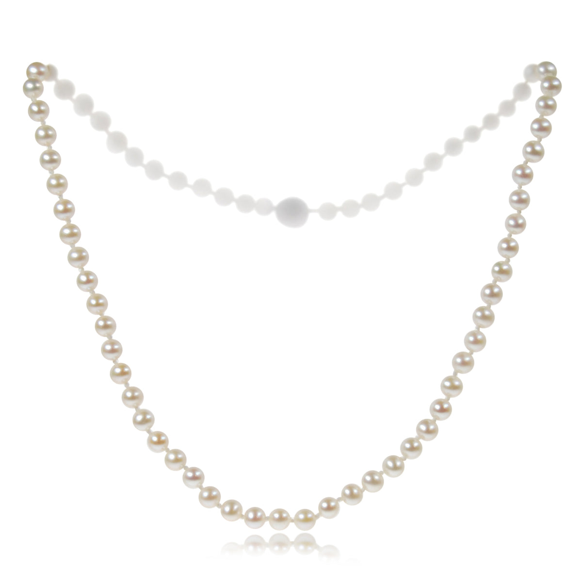 White Freshwater Pearl Small Single Strand Necklace