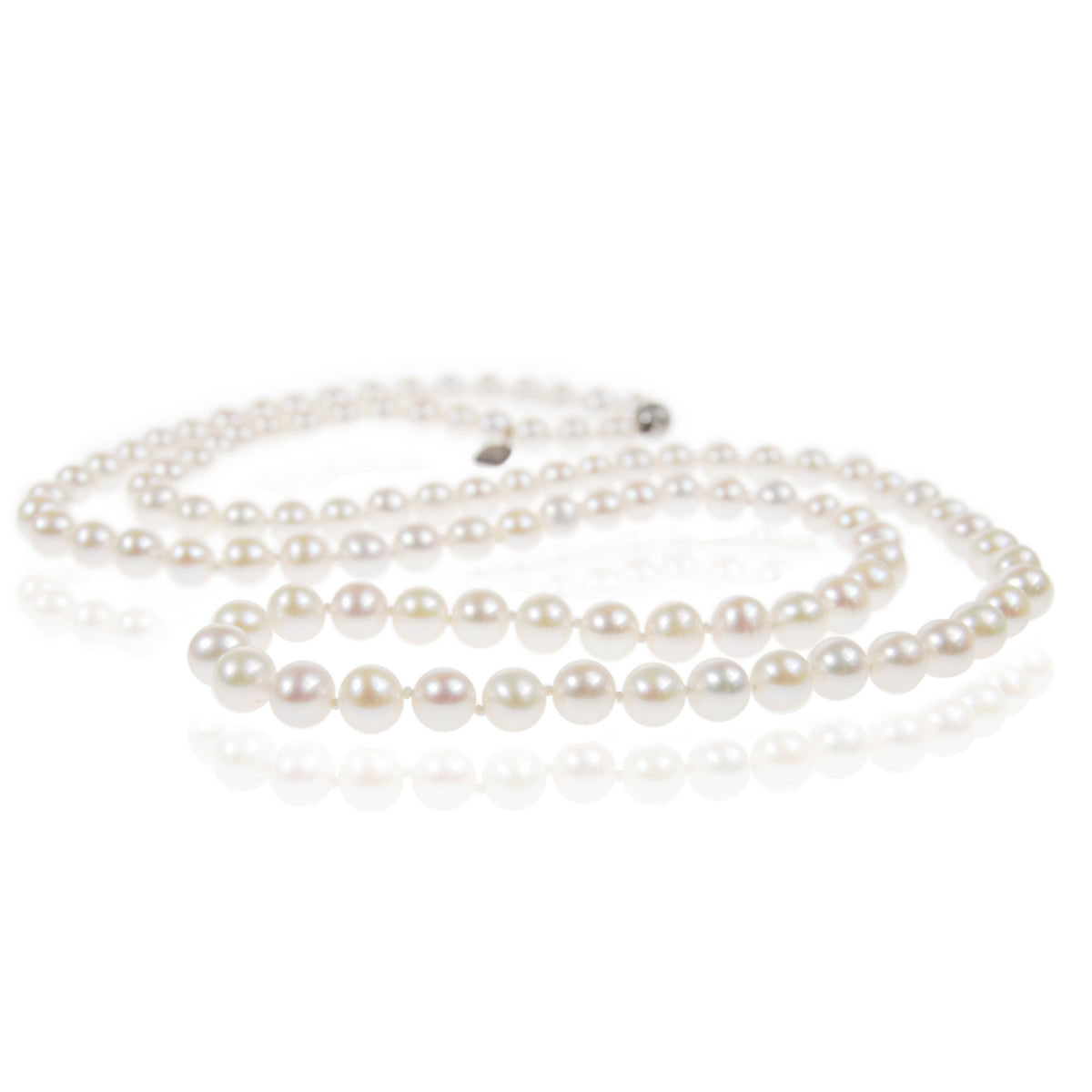 White Freshwater Pearl Long Necklace
