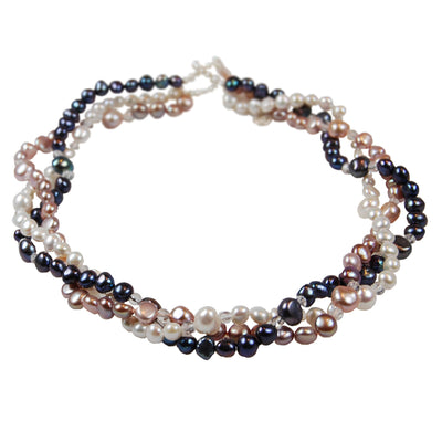 Limited Edition Triple Strand Biwa Pearl Necklace